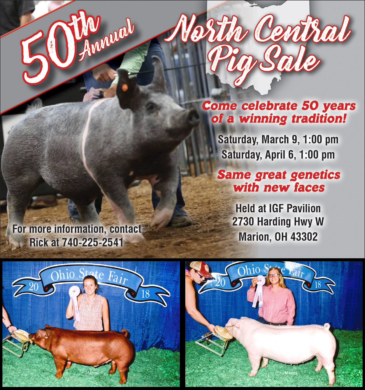 50th Annual North Central Pig Sales